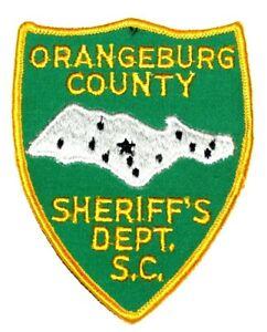 "ORANGEBURG COUNTY SOUTH CAROLINA SC Sheriff Police Patch LG 5"" AA24"