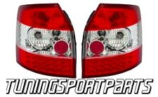 REAR RED-CLEAR TAIL LED LIGHT FOR AUDI A4 B6 8E 00-04 AVANT NEW LAMPS FANALE