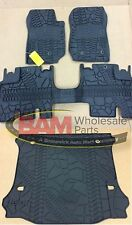 2016-2017 Jeep Wrangler Unlimited 4-Door Slush Mats Cargo Mat Kit OEM All Wea...