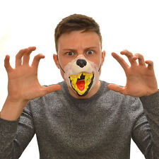 MEZZA faccia abbaiare WOLF Divertente Costume Maschera Di Lattice Per Bambini & Adulti Halloween