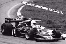 9x6 Photograph  Renzo Zorzi , Shadow DN5 , Brazilian GP  Interlagos 1977