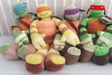 "Teenage Mutant Ninja Turtles Pillowtime Pal TMNT Cuddle Pillow 24"" Complete Set"