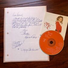 """MARIAH CAREY * Early Autograph HANDWRITTEN LETTER Signed """"Love & Happy Holidays"""""""