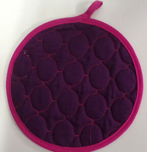 """POT HOLDERS- ROUND 9"""" - PERFECT TO USE AS A TRIVET AS WELL"""
