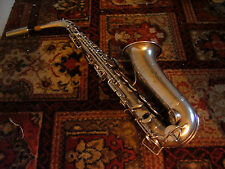 SELMER MODEL 26 ALTO SAX .SILVER. IN EXCELLENT CONDITION.RE PADDED.