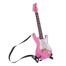 1/6 Modelo Guitarra Eléctrica en Miniatura - Adorno de Instrumentos Musicales
