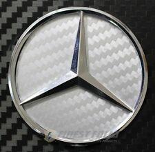 Carbon lámina antracita mercedes estrella volante emblema esquinas MB AMG e190 nuevo 46mm