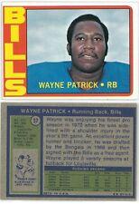 1972 Topps Wayne Patrick #57, Buffalo Bills Football Card