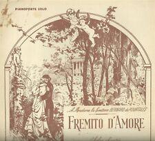 Spartito remito d'Amore di Alfredo Barbirolli per Pianoforte e Canto 1906