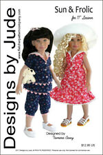 """Sun & Frolic Doll Clothes Sewing Pattern for 11"""" Leeann"""