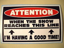 FUNNY SLED WARNING SNOWMOBILE SNOCROSS RACE TRAIL SNOW STICKER DECAL SL GT 629