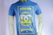 "DC SHOES MEN'S GRAPHIC LIGHT BLUE ""DC""  T-SHIRT W/ YELLOW DC LOGO size Small"