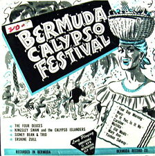 "BERMUDA CALYPSO FESTIVAL: VARIOUS ARTISTS 8 SONGS BERMUDA RECS 10"" 33LP 1950s"
