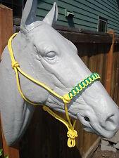 14 ft. Lead Rope Yellow & Custom Yellow Halter w/ Yellow & Kelly Green Noseband