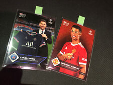 More details for 2021topps now cristiano ronaldo signs for manchesterunited messi signs for paris