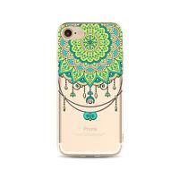 Thin Mandala Henna Hemsa Paisley Flower Tribal Tattoo TPU Gel Case For iPhone