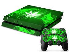 SONY PS4 PlayStation 4 SKIN Design Adesivo Pellicola Protettiva Set - CANNABIS 7