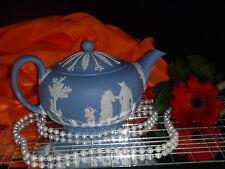 Vintage Wedgewood Blue Jasperware Teapot