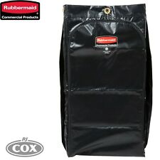 Rubbermaid High Capacity 128 Litre Vinyl Janitor Cart Bag Black Executive