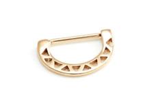 PVD Rose Gold Nipple Bar / Half Shield / Clicker + Zig Zag Design ~ half price