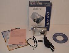 Boxed Silver Sony Cyber-shot DSC-S650 7.2 Mega Pixels Digital Camera