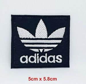 Adidas Original logo sports badge Black Iron Sew on Embroidered Patch (Large)