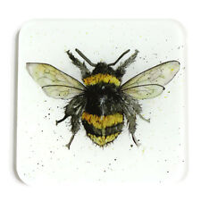 Glass Coaster - Bumble Bee - Animal Gift, Stocking Filler, Gift under £5