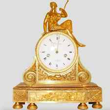 c. 1800 18th - 19th Century French Gilt Bronze Diana Mantel Clock Louis XVI
