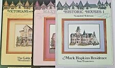 Debbie Patrick 3 Cross Stitch Charts Houses Mark Hopkins Maxwell The Gable House