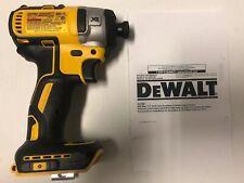 """DEWALT DCF887 20V Volt Max XR Li-Ion Brushless 3-Speed 1/4"""" Impact Drill Driver"""