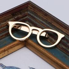 Gold Glasses Shape Tie Clip for Men Suits Necktie Clips Tie Bar Clasp Hot Sale