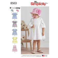 Simplicity Easy SEWING PATTERN 8563 Toddlers Dresses & Hat 1/2-4