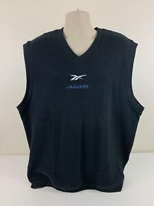 VTG Jacksonville Jaguars Reebok Sweater Vest Mens Size XL NFL Football EUC