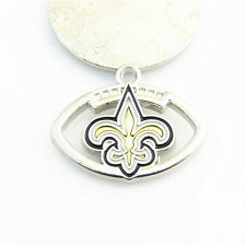 10pcs/lot NFL Football Sports New Orleans Saints Dangle Charms DIY Snap bracelet