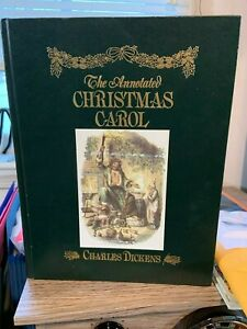The Annotated Christmas Carol, 1989, Charles Dickens Hardcopy Hearn Avenel Books