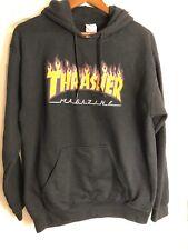 thrasher magazine flame hoodie gildan black medium Skateboarding