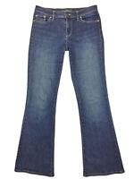 Ralph Lauren Womens Dark Wash Modern Flare Boot Cut Stretch Denim Jeans Size 2