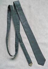 Slim Jim Flaco MOD REVIVAL corbata Real Cuero Década de 1970 década de 1980 Gris Pato 4.5cm de extremo