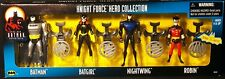 "1998 KENNER BATMAN ANIMATED KNIGHT FORCE HERO COLLECTION 5"" FIGURES 4-PACK MIB"