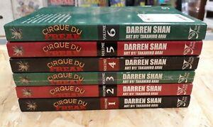 Cirque du freak manga lot Volumes 1-6 english yen press