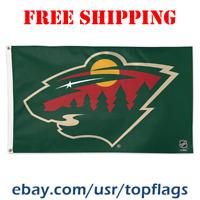 Deluxe Minnesota Wild Logo Flag Banner 3x5 ft 2019 NHL Hockey Fan Gift NEW