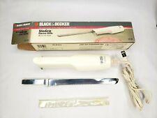 Vintage Black & Decker Slim Grip Electric Knife Ek100, Previously Owned In Box