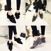3 Colors Women fashion hair mats shoes low-heeled shoes plus cashmere Size 37-39
