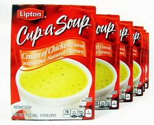 Lipton Cup Of Soup Cream Of Chicken 6 Boxes 24 Servings