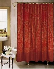NEW Paisley Alexandria Shower Curtain By Rose Tree Burgundy Spice