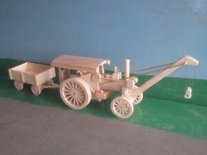 1:32nd Fowler Crane Engine Wooden Model