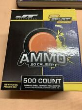 Jt Splatmaster 500ct Paintball Ammo - 50 Cal - Orange Shell Bright Yellow Fill!