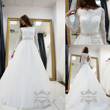 Maggie wedding dress with long sleeves A style wedding gown ball gown cathedral