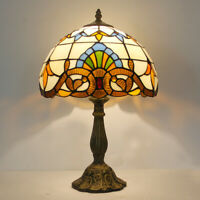 Tiffany Baroque Style Table lamp  Dia 12 inch Stained Glass Table Reading Lamp