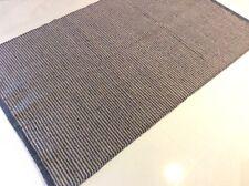Dark Grey Striped Natural Cotton and Jute Mix Handmade Washable Kilim Area Rugs